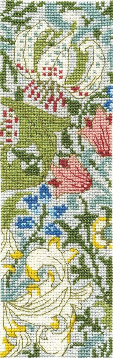 DMC J H DEARLE Bookmark Counted Cross Stitch Kit -Golden Lily - BK1173